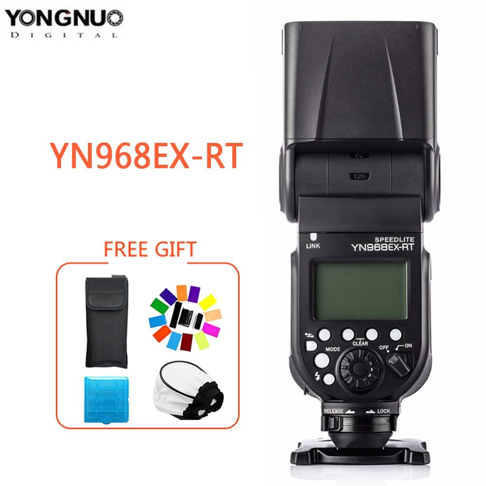 Yongnuo YN968EX-RT flash speedlite alta velocidade sincronização ttl sem fio com luz led para canon 5 diii 6d 7dii 60d 1100d 1200d 1000d700d