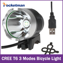 New Bicycle Light 2000Lm CREE XM-L T6 LED Bicycle Headlight Lamp Super Bright For Bike Cycling Bicycle Waterpoof Front Light