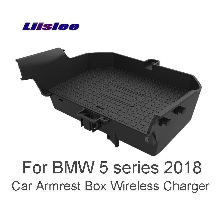 Liislee для BMW 5 G30 G31 G38 2018 автомобилей Quick Charge быстрый мобильный телефон автомобиль подлокотник окно Беспроводной Зарядное устройство Wi Fi зарядн