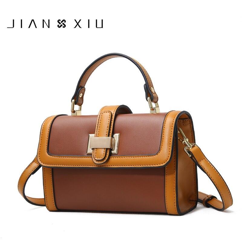 JIANXIU Brand Women Split Leather Handbags Famous Brands Handbag Female Messenger Shoulder Bag Fashion Belt lock