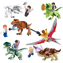 jurassic Dinosaurs legoings Tyrannosaurus Rex Movie Sets Models Building Blocks Bricks Toys World of Park Figures BKX98