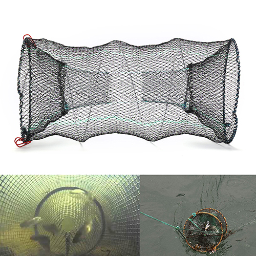 1PC Fishing Net Crab Crayfish Lobster Catcher Pot Trap Net Fishing Collapsible Trap Cast Keep Net Eel Prawn Shrimp Live Bait fishing basket creel 3 layer multicolored nylon collapsible drawstring bottom nets cage for shrimp crab lobster outdoor fishing