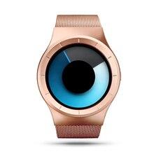 2016 Nomo hombres de la Marca de Cuarzo Relojes Casual Reloj de Oro Hombres Celeste Papel De Acero Mujer Reloj Whatch reloj de Luz Del Norte Hombre