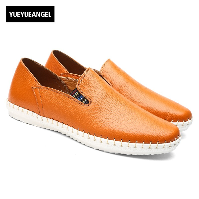 New Arrival Man Shoes Slip On Breathable Pu Leather Casual Business Shoes For Men Flats Driving Loafers White Brown Blue Black new arrival high genuine leather comfortable casual shoes men cow suede loafers shoes soft breathable men flats driving shoes