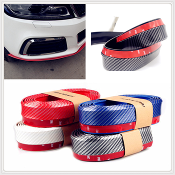 Car Carbon Fiber Rubber Bumper Strip 2.5m Front Lip Trunk for BMW 335is Scooter Gran 760Li 320d 135i E60 E36 F30 F30 image