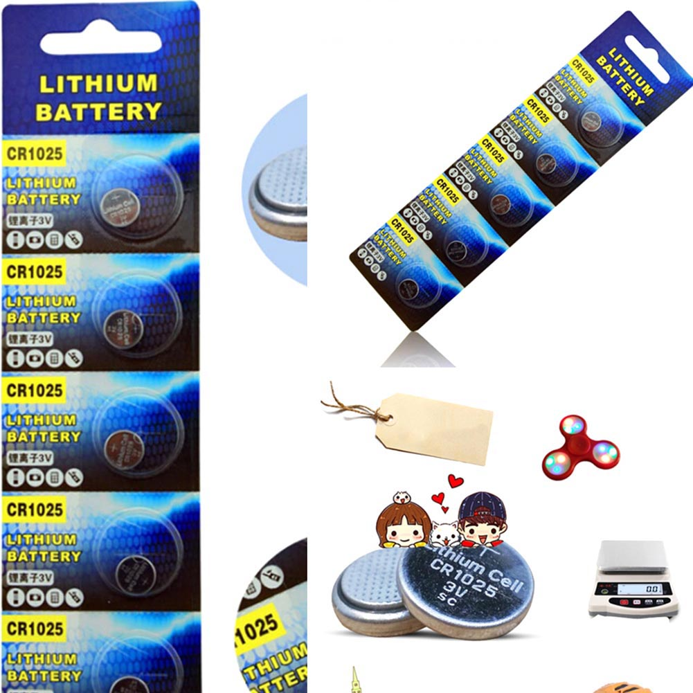 5PCS CR1025 Lithium Batteries 3V Coin Cell Button For Watch Battery Car Remote Control