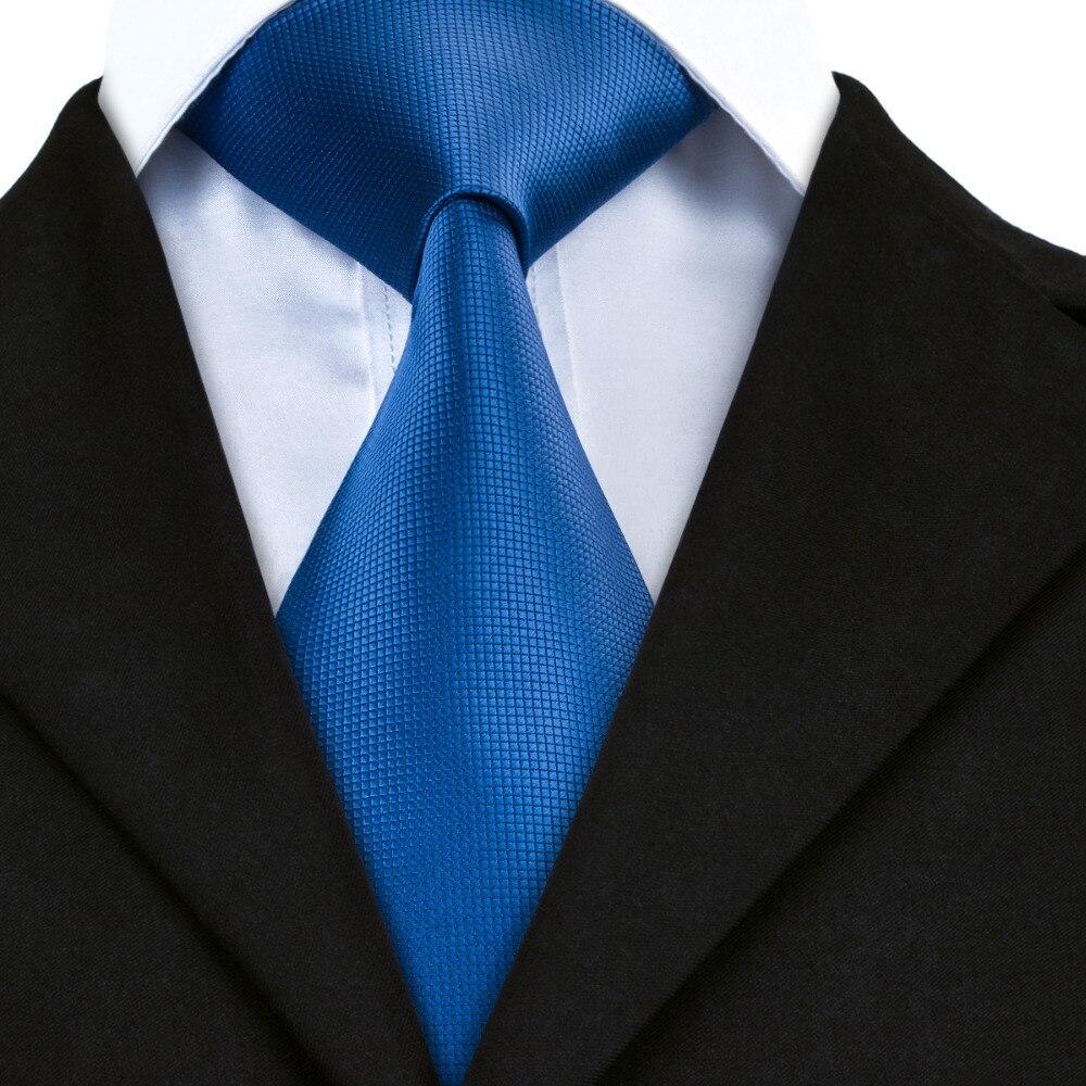 2017 Hot Sale Classic Gravata Men Blue Tie Formal Business Wedding Party Tie Silk Necktie Free Shipping A-429
