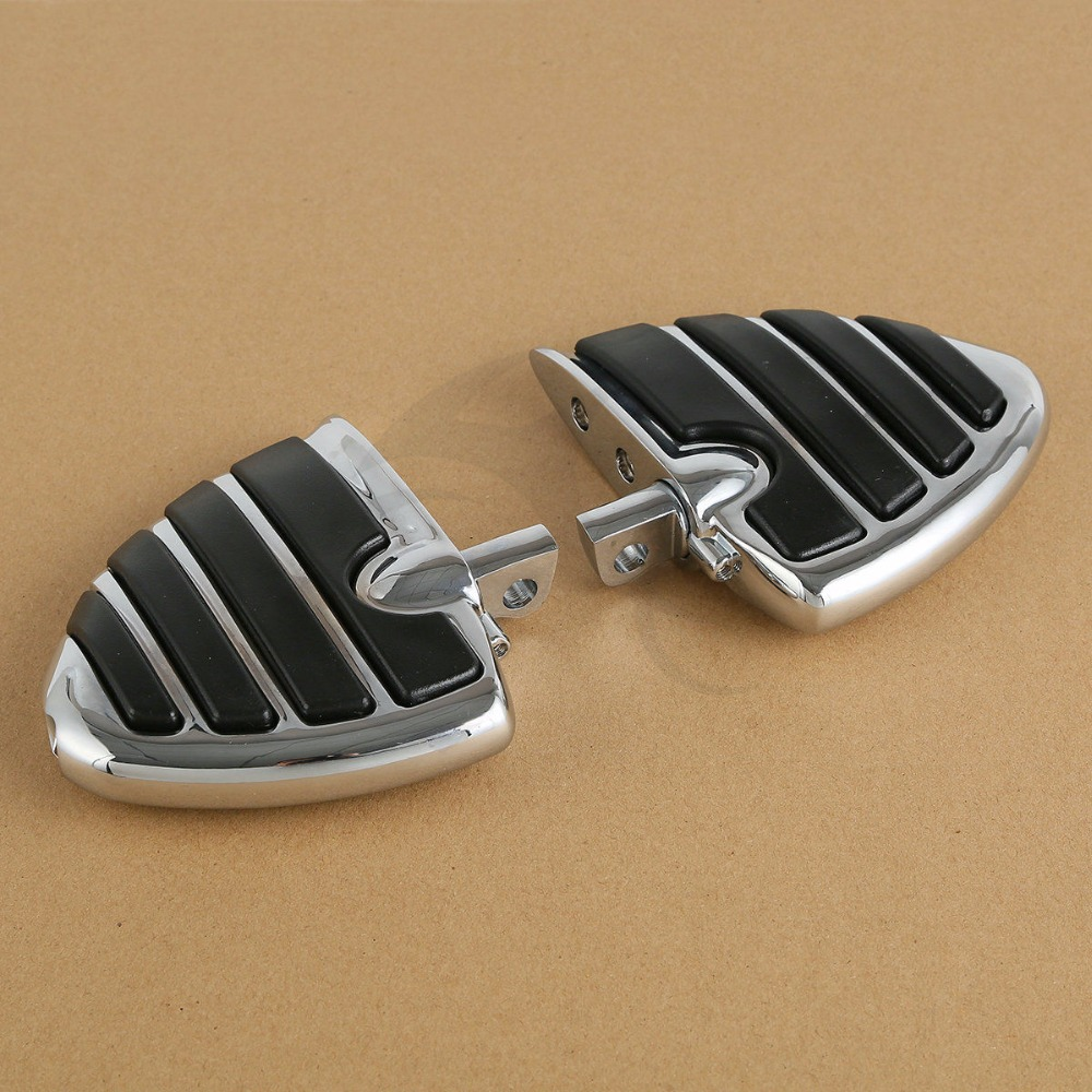 Chrome Male Mount Style Wing Style Foot Rests FootPegs For Harley Touring Models Motorcycle in Foot Rests from Automobiles Motorcycles