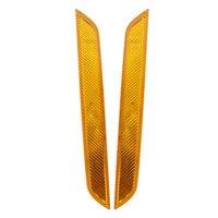 Отражатель LED Чистый Янтарный Желтый Передний Бампер Тормоз Предупреждение Светоотражающие Ленты Противотуманные фары Для BMW X6 E71 E72//