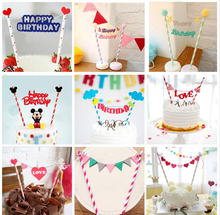 1pc Multi shape Cupcake Cake Topper Cartoon Cake Flags With font b Paper b font font