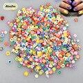 BlueZoo Новый 1000 шт./упак. 3D Фрукты Цветок Наклейки Смешанные Конструкции Fimo Наклейки Клей Ломтики Nail Art Советы Ногтей Наклейки Украшения