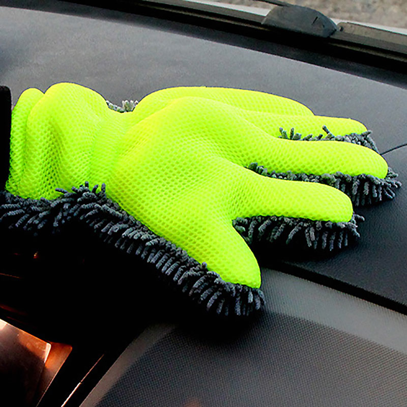 Thicken Car Wash Gloves Cleaning Tools Microfiber Detailed Brush Strong Water Suction Car Supplies Clean Car Does Not Scratch