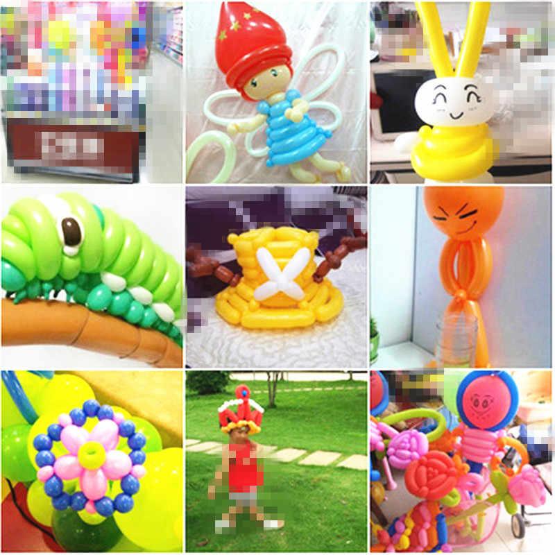 5 шт Длинные Воздушные шары 260q латексные Длинные Воздушные шары волшебное моделирование Длинные Воздушные шары зеленые длинные воздушные шары День рождения черные белые полосы воздушные шары
