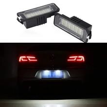 цена на 1 Pair 18 LED Car Licence Plate Lights For Volkswagen Passat B6 Polo 9N For Volkswagen GOLF 5 2003-2008 Volkswagen GOLF 6