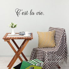 Cest La Vie Quote Wall Sticker Life Quotes Decal Inspirational DIY Easy Art Cut Vinyl Q130