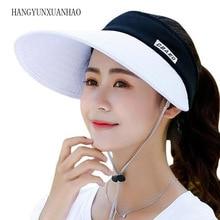 2019 New Summer Long Visors UPV50 Sun Protection Outdoor Sport Hats for Women Men Empty Top Caps Visor Hat