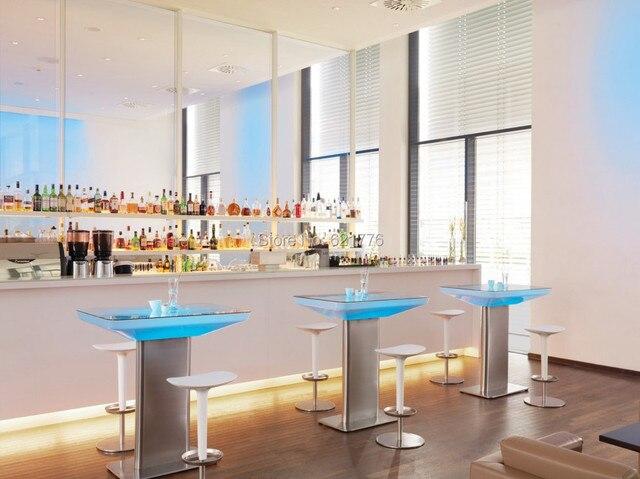 US $349.99  H100 Led Illuminato Mobili tavolo Da Pranzo per 4 persone,  STUDIO LED, ha portato il caffè tavolo per bar, sala riunioni, soggiorno o  ...