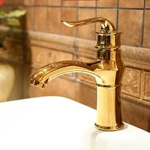 Free Shipping Brass Hot and Cold Water Mixer Tap Single Handle Deck Mounted Bathroom Basin Vessel
