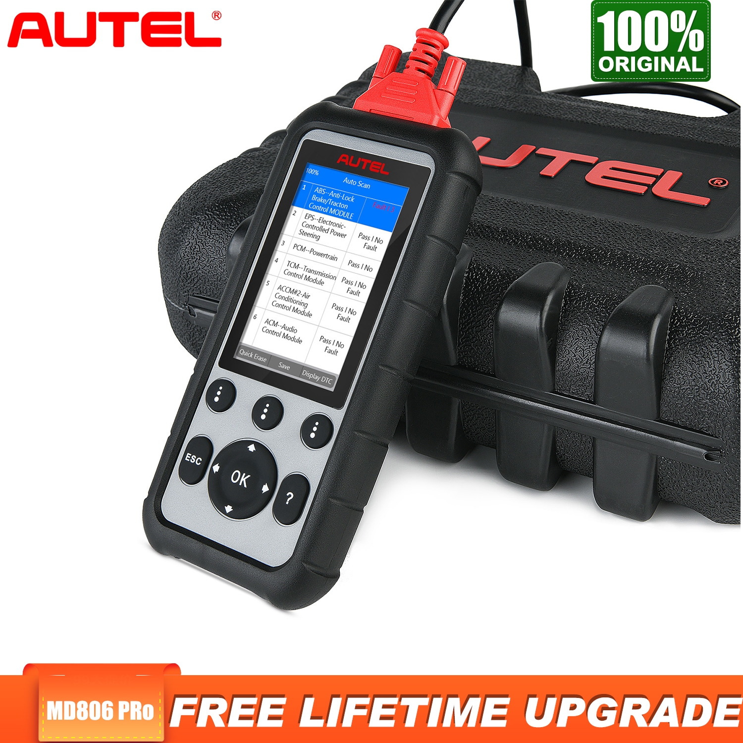 Autel MD806 Pro Obd2 Scanner Diagnostic Tool Car Diagnostic Full System Diagnoses EPB/Oil Reset/BMS DPF Batter Than MD805 MD802 image