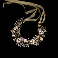 Leaves Wedding Hair Accessories Bridal Hair Vine Wedding Headband Crystal Tiaras And Crowns Head Piece