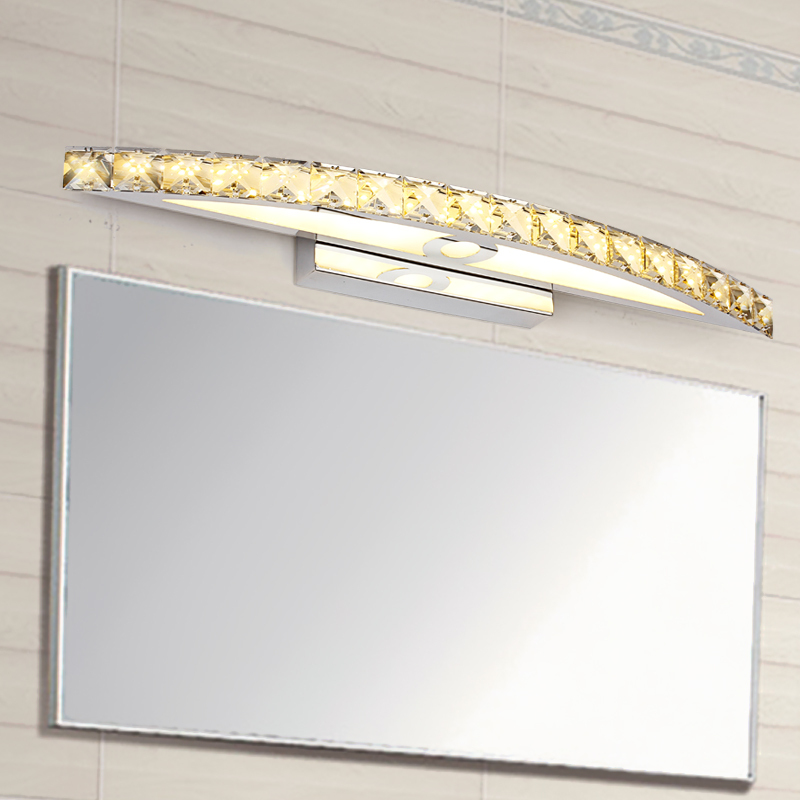 EGOBOO 10W Waterproof LED Bathroom Lighting Nice Crystal Wall Light Mirror  Lights 44cm Long Decorative For Home In LED Indoor Wall Lamps From Lights  ...