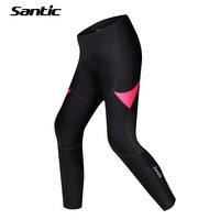 Santic Winter Fleece Thermal Women Padded Cycling Pants Long Mtb Downhill Pants Warm Bicycle Tights Mountain