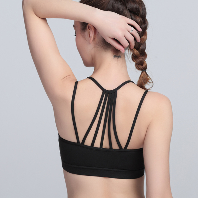 0143952e69 Sports Bra Women Quick Dry Tops Back Design Sportswear For Female Summer  Fitness Jogging Running Women Push Up Solid Yoga Bra
