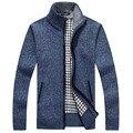 Мужской свитер кардиган Осенью и зимой толстый свитер мужской случайные пальто Удобная теплая одежда 65yw