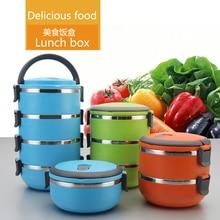2016 Caliente Corea Aislamiento Térmico Almuerzo Picnic Food Container Vajilla Sets de Acero Inoxidable Cajas de Alimentos