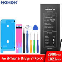 NOHON Battery For Apple iPhone 8 7 Plus 8Plus 7Plus X iPhone8 iPhone7 7G 8G Lithium Polymer Bateria Free Tools Retail Package
