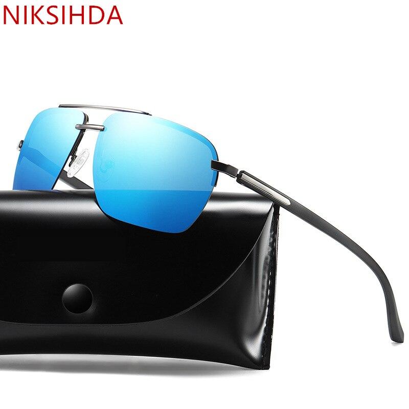NIKSIHDA 2019 New fashion sunglasses mens Polarized Sunglasses driving uv400