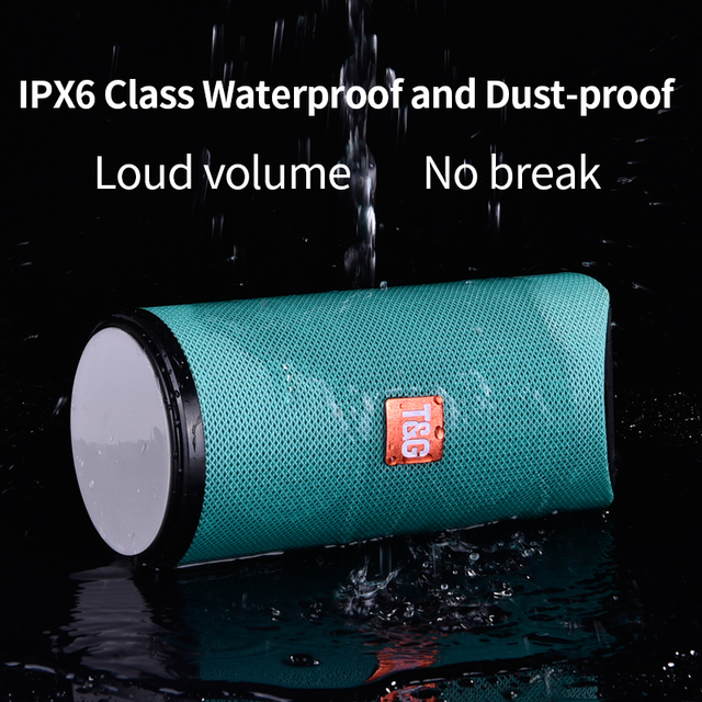 TG Bluetooth Speaker Portable Outdoor Loudspeaker Wireless Mini Column 3D 10W Stereo Music Surround Support FM TFCard Bass Box 2