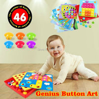 DIY Button Art Color Matching Mosaic Pegboard Mushroom Nail Jigsaw Early Puzzles Toys Learning Educational Toys