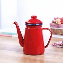 1.1L эмалированный кофейник ручной чайник индукционная плита газовая плита Универсальная