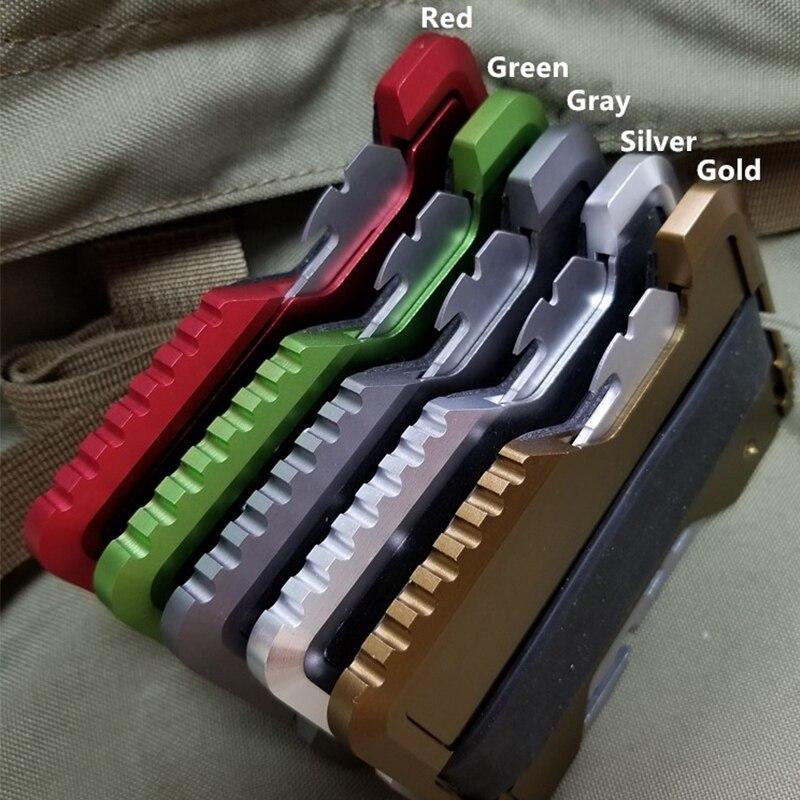 Metall Clip EDC Outdoor Tasche Brieftasche Taktische Multi-funktion Brieftasche Karte Paket Armee Fans Ausrüstung Mit Flasche Opener