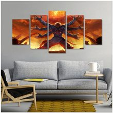 Game Posters And Prints Asura's Wrath Canvas Art print painting Modular Pictures Wall Art Living Room Wall Decor 5Piece(China)