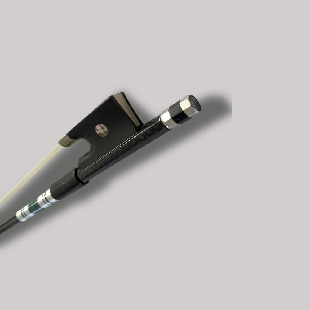 TONGLING Silver Braided Carbon Fiber bonութակի Bow 4/4 3/4 - Երաժշտական գործիքներ - Լուսանկար 3