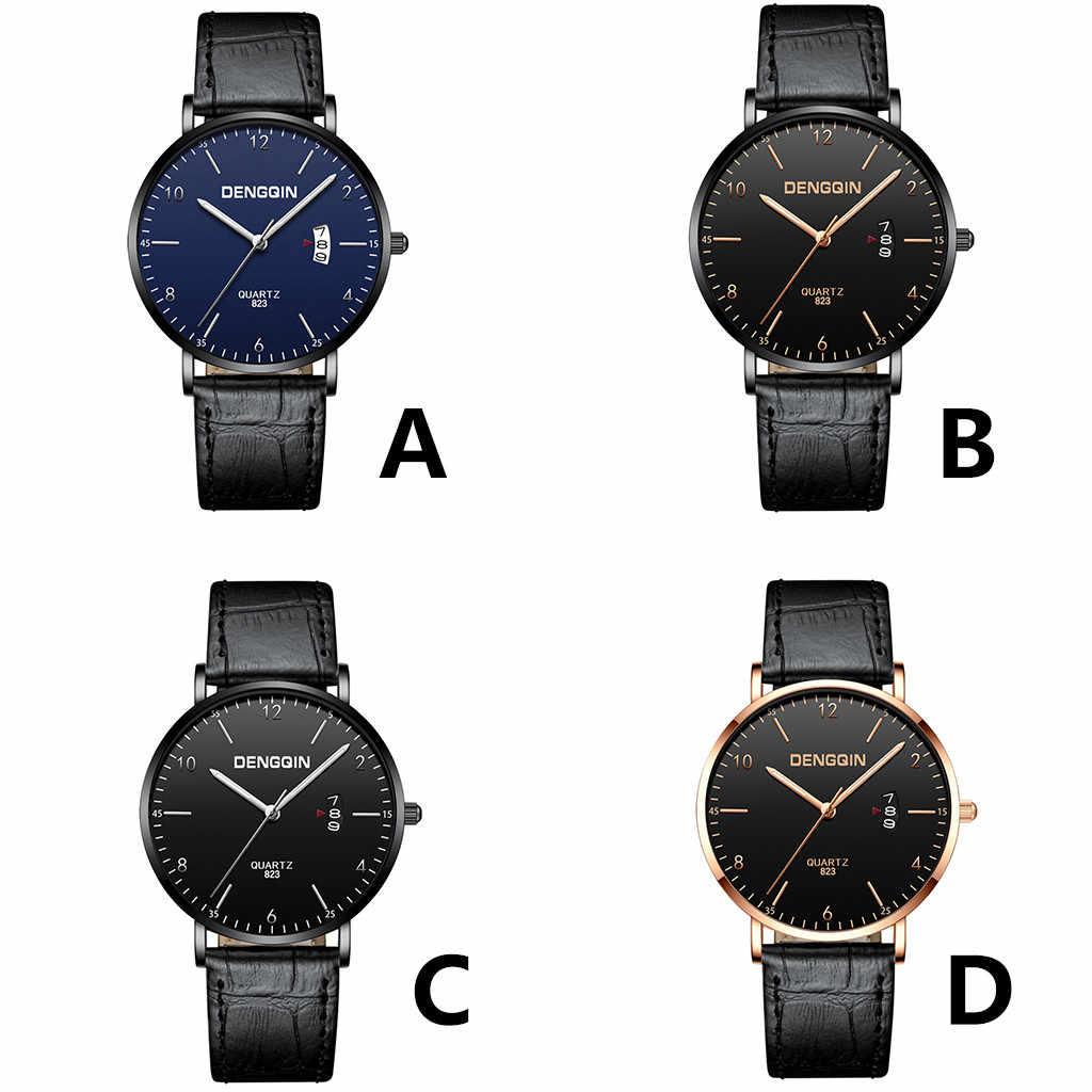 Gofuly 2020 luxo quartzo esporte militar aço inoxidável dial pulseira de couro relógio de pulso moda nova listagem reloj hombre