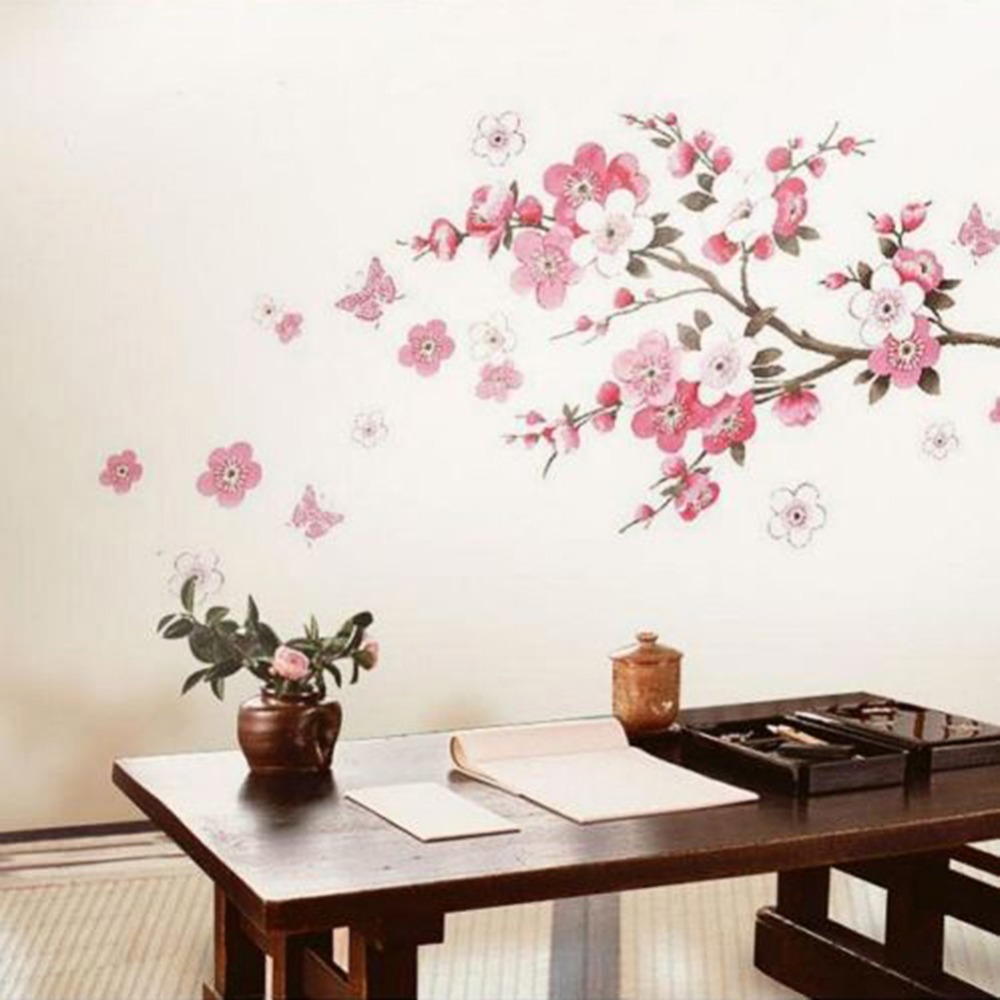 Sakura Flower Bedroom Room Vinyl Decal Art DIY Home Decor Wall - Wall stickers art