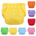 7 Colores Lindos Del Bebé Pantalones de Entrenamiento de Algodón Bebés Recién Nacidos Pañales Pañales Pañales Reutilizables Pañal de Tela Lavable