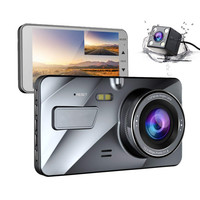4 IPS Dual Lens Car Dash Cam FHD 1080P Dashboard Camera 170 degree Vehicle Driving DVR Recorder G Sensor Parking Monitor WDR A1
