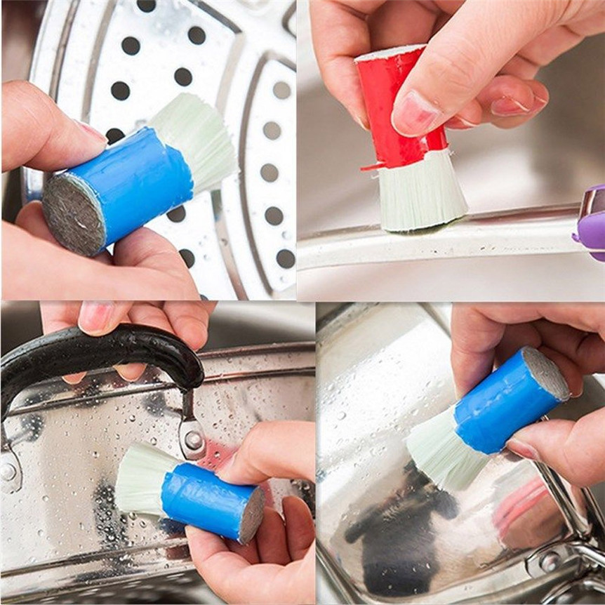 Hot Sale 2PC Stainless Steel Rod Magic Stick Rust Remover Cleaning Wash Brush Wipe Pot drop shipping 0627