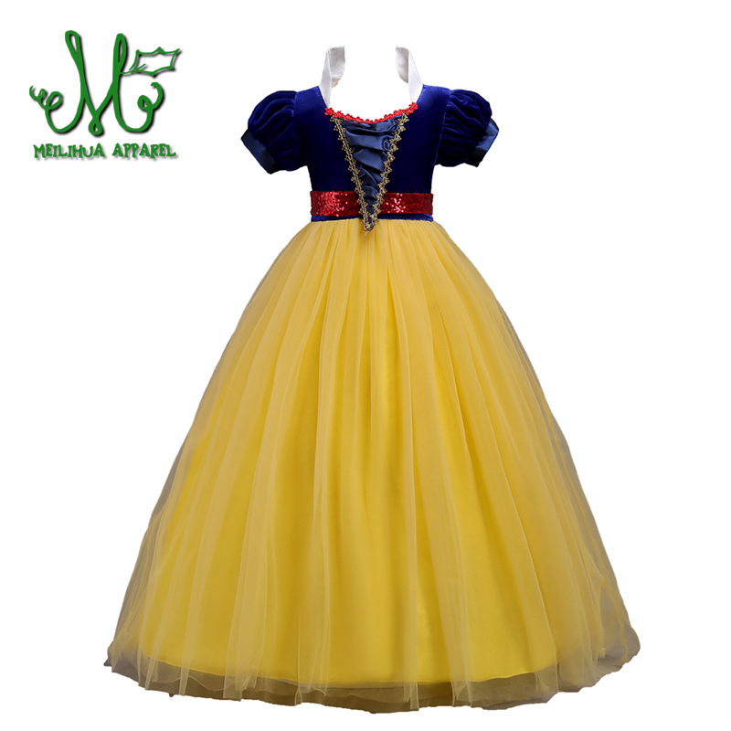 6-16Y Teens Princess Infant Snow White Costume Girl Halloween Outfits Dress Up Kids Party Wear Children Girls Cosplay Dresses kids girls summer cotton dress children girl snow white sofia cinderella rapunzel princess dresses 1 5t cosplay costume t469