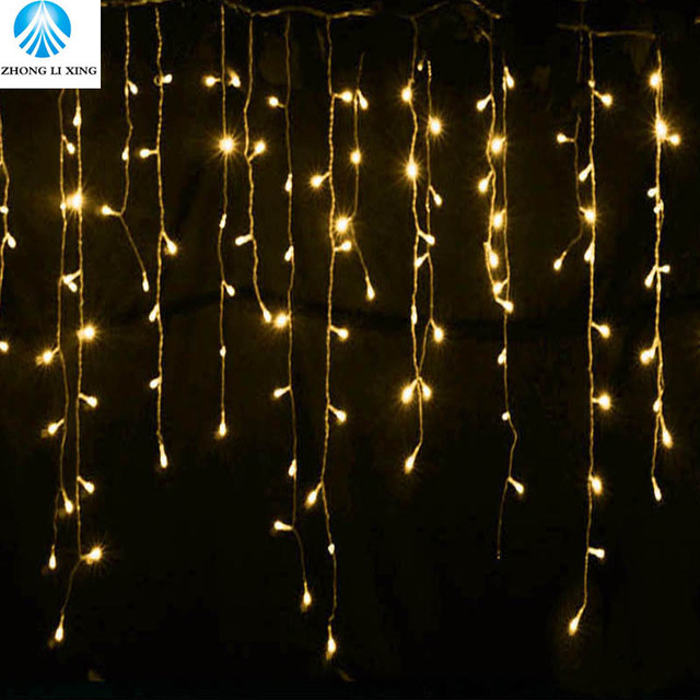 Christmas Led Lights.Us 8 0 42 Off 5 Meter Christmas Outdoor Decoration Indoor Droop 0 4 0 6m Curtain Icicle Led String Lights New Year Garden Party 220v In Led String