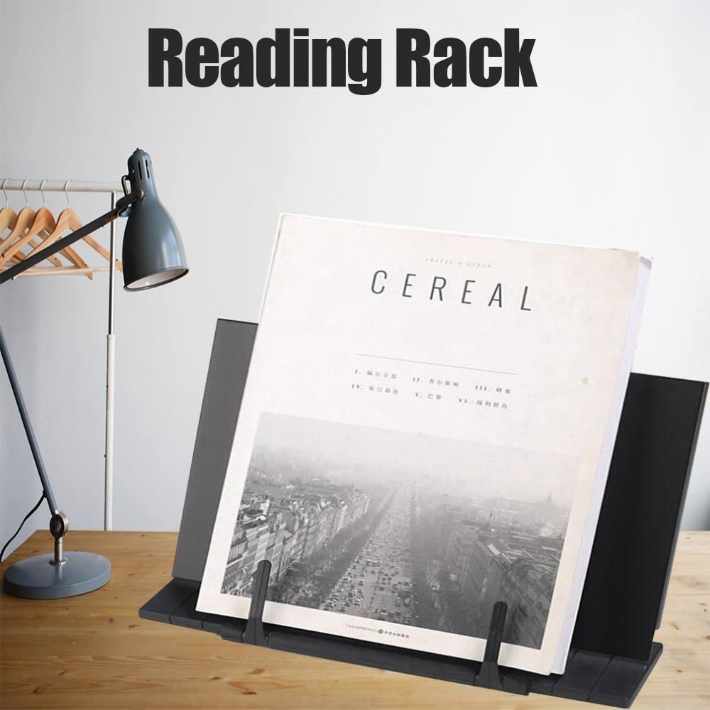 Горячая Распродажа, Портативная подставка для чтения, подставка для книг, подставка для чтения, настольная подставка, регулируемый черный цвет