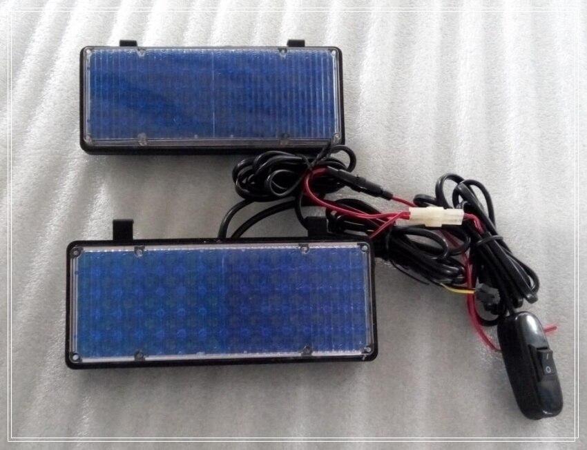 Hih intensity DC12V,24W Led car external emergency lights,strobe headlight,police fire ambulance lights,waterproof(2pcs/1set)