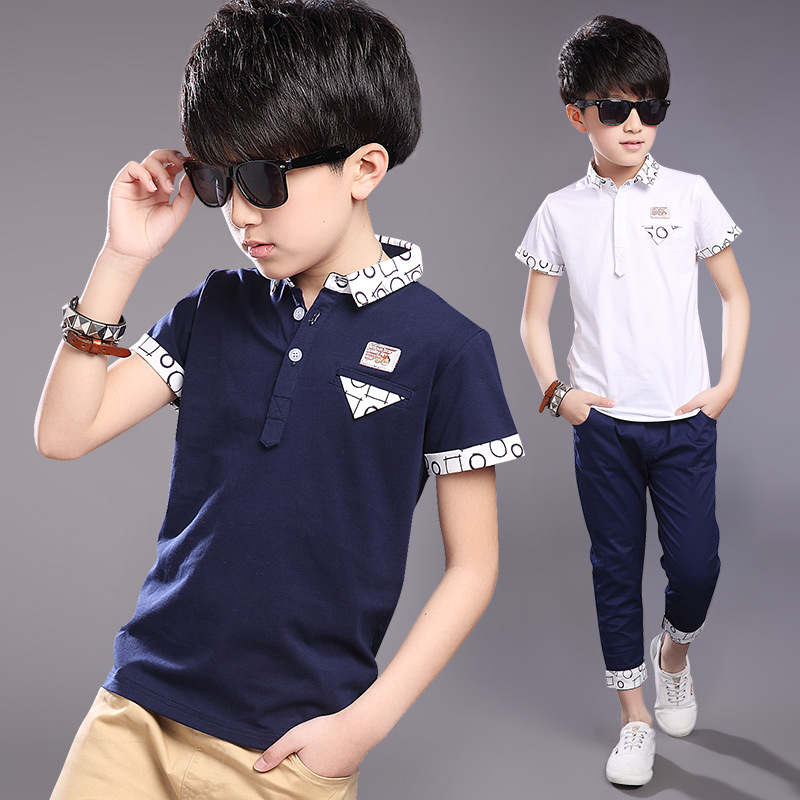 Kids Boys Clothes Summer Boys T-shirt Casual Cotton Short Sleeve Print bicycle T-shirt Tops Tops Fashion Boys Clothes 4-14 years