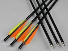 ELONG 24 pieces fiberglass crossbow bolts arrow 20″ w/ nock fixed point shooting archery bow outdoor