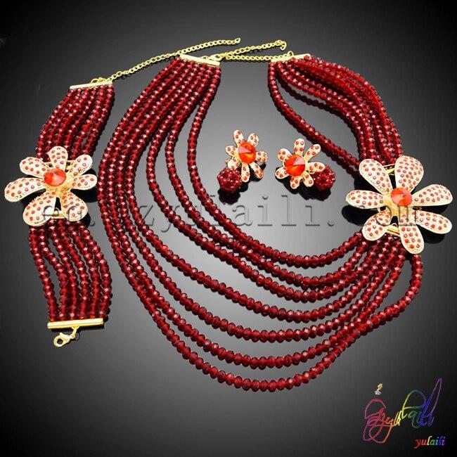Здесь продается  Free shipping!! african wedding beaded set crystal beaded sets nigerian bridal bead set many color avilable  Ювелирные изделия и часы