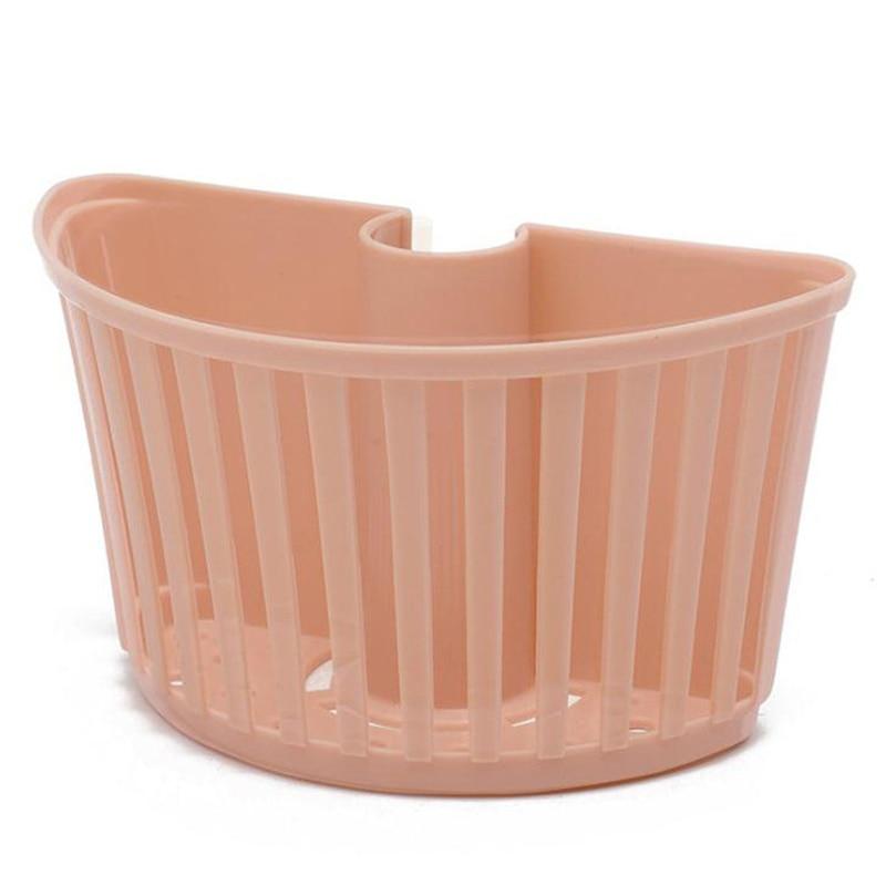Image 5 - Portable Kitchen Sponge Holder Sink Dish Storage Rack Hanging Drain Basket Wall mounted Bathroom Organizer Sink Sponge Holder-in Storage Holders & Racks from Home & Garden